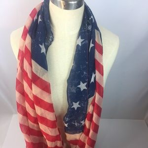 American Flag Red White and Blue Scarf